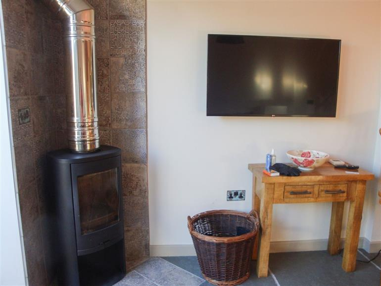This is the living room at The Coach House St Crispin in Cowbridge