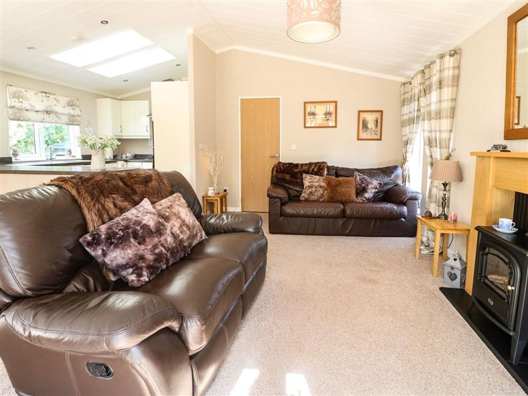 This is the living room at The Lake House near Barkston