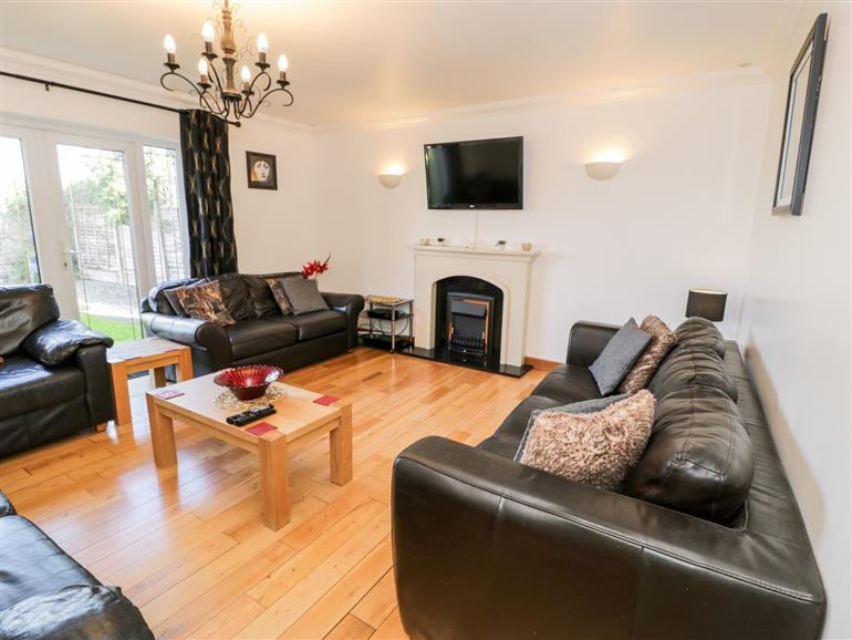 The living room at The Meadows in Pentraeth