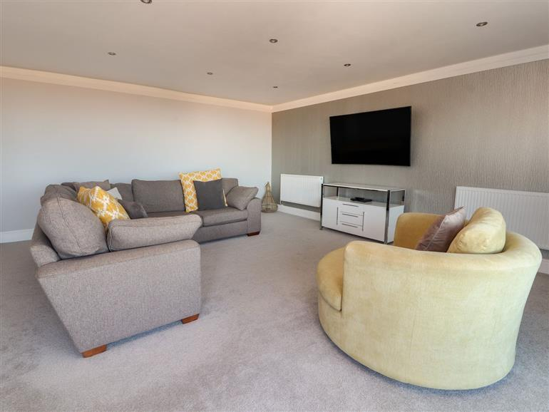 This is the living room at The Mount in Prestatyn