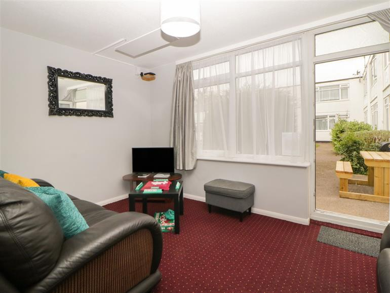 This is the living room at Turtle Chalet in Dawlish Warren
