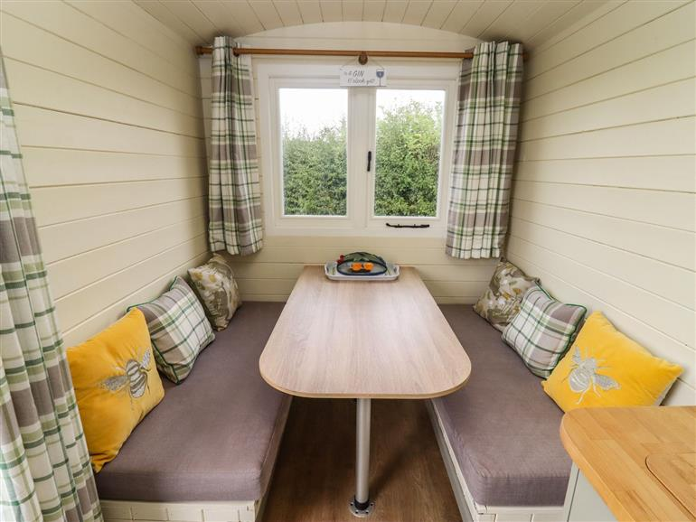 This is the living room at Two Hoots Huts in Faringdon