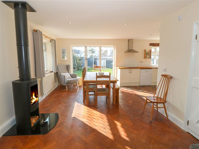 This is the living room at Ty Garth in Benllech