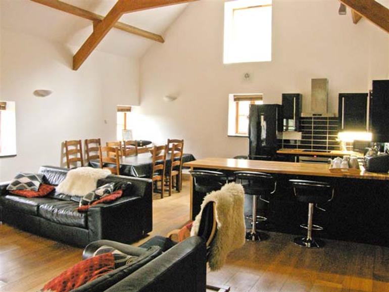 The living room at Tyddyn Tyfod in Glanrafon near Cynwyd
