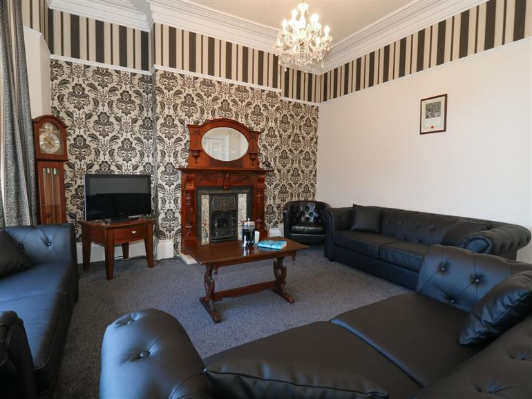 This is the living room at Wellington House in Bridlington