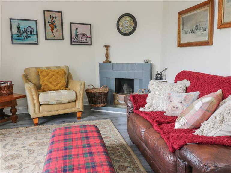 The living room at Westgate Lodge in Carmichael near Biggar