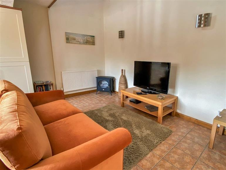 This is the living room at Y Beudy near Y Felinheli