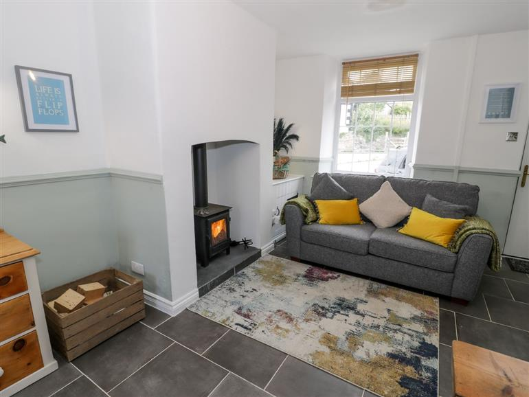 The living room at Y Bwthyn in Conwy