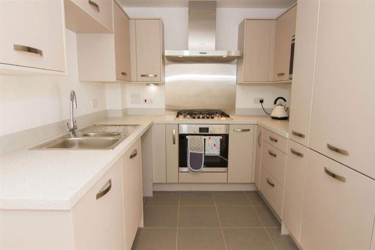 The kitchen in Bee Cottage, Northrepp